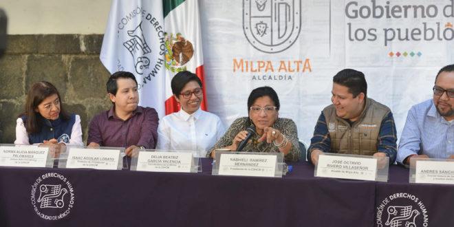 Discurso de la Presidenta de la CDHCM, Nashieli Ramírez Hernández, al inaugurar la Delegación de este Organismo en la Alcaldía de Milpa Alta.