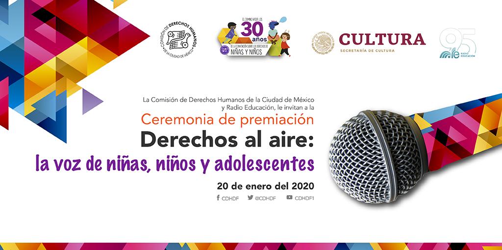 Ceremonia de premiación Derechos al aire: la voz de niñas, niños y adolescentes