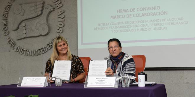 Galería: Convenio con la Institución Nacional de DDHH y Defensoría de Uruguay