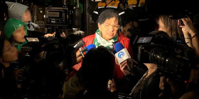 Entrevista a la Presidenta de la CDHCM, Nashieli Ramírez Hernández, en la movilización #JusticiaparaIngrid.