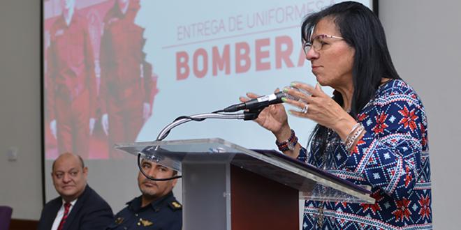 Transcripción del discurso de la Presidenta de la CDHCM, Nashieli Ramírez Hernández, en la entrega de equipo táctico a bomberas de la CDMX.