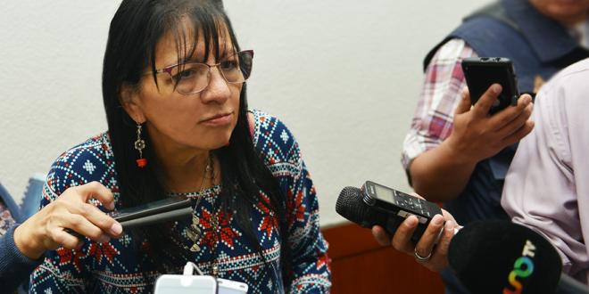 Entrevista a la Presidenta de la CDHCM, Nashieli Ramírez Hernández, en la ceremonia de entrega de uniformes de bomberas.
