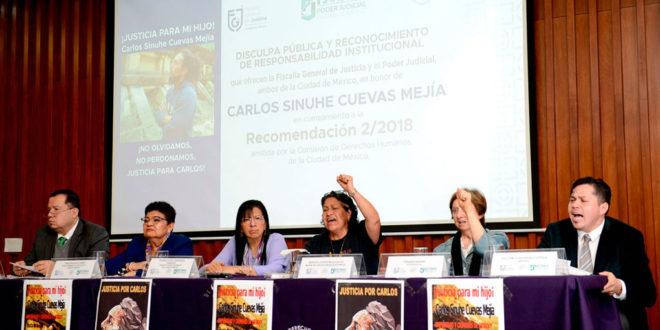 Galería: Disculpa Pública y Reconocimiento de Responsabilidad Institucional  por caso de Carlos Sinuhe Cuevas Mejía