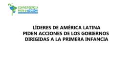 Líderes de América Latina piden acciones de los Gobiernos dirigidas a la primera infancia