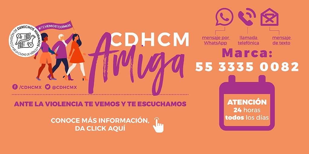 Presentación de resultados de la Línea de atención telefónica #CDHCMamiga, para mujeres víctimas de violencia