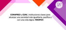 CONAPRED y CEAV, instituciones claves para alcanzar una sociedad más igualitaria, pacífica y con una vida digna: FMOPDH