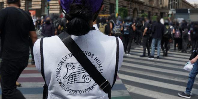 CDHCM acompaña movilización #JusticiaParaMelanie