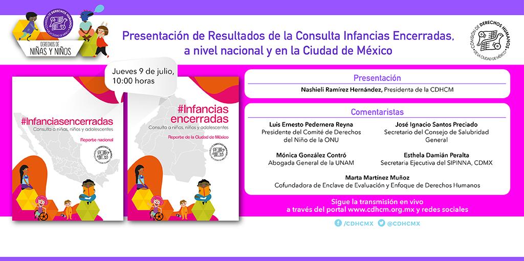 Presentación de Resultados de la Consulta Infancias Encerradas, a nivel nacional y en la CDMX