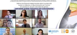 OACNUDH presenta Informe del Experto Independiente sobre la protección contra la violencia y la discriminación por motivos de orientación sexual o identidad de género