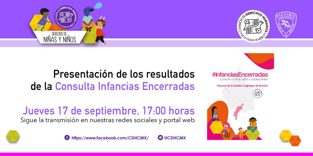 Presentación de los resultados de laConsulta Infancias Encerradas, en la Alcaldía Cuajimalpa de Morelos