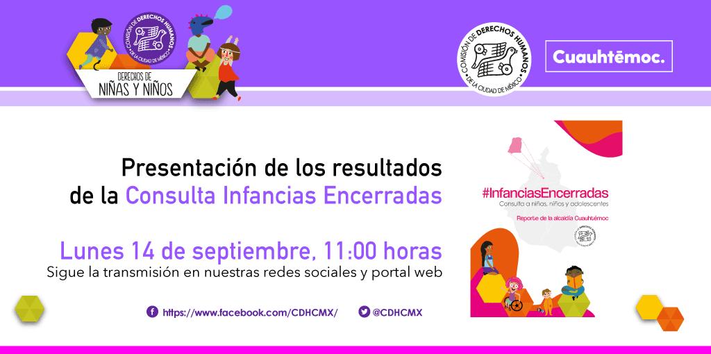 Presentación de los resultados de laConsulta Infancias Encerradas, en las Alcaldías Cuauhtémoc y Azcapotzalco
