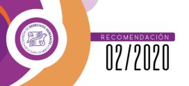 Recomendación 02/2020