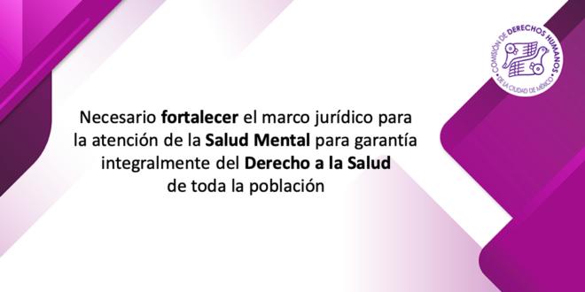 Necesario fortalecer el marco jurídico para la atención de la Salud Mental para garantía integralmente del Derecho a la Salud de toda la población
