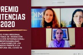 Galería: CDHCM participa en clausura del Sexto Foro Regional en materia de Migración, «Premios Sentencias 2020»