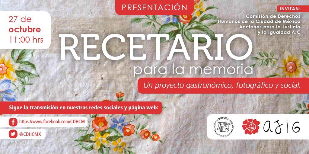 Presentación delRecetario para la Memoria. Un proyecto gastronómico, fotográfico y social
