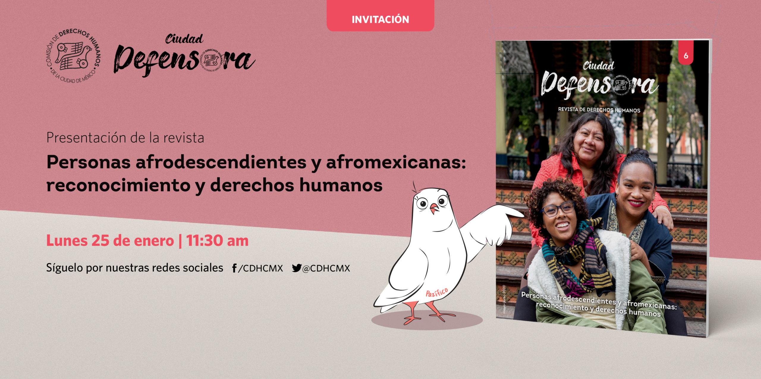 """Presentación de la revista """"Personas Afrodescendientes y afromexicanas: reconocimiento y derechos humanos."""""""