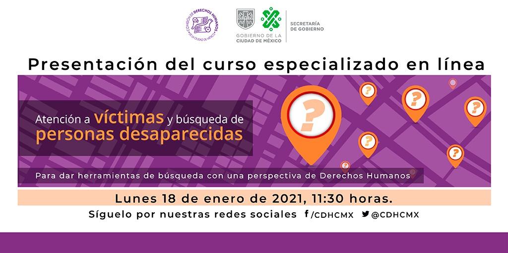 Presentación del Curso Especializado Atención a Víctimas y Búsqueda de Personas Desaparecidas