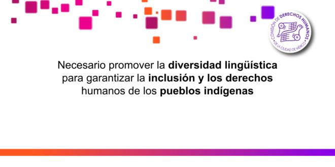 Necesario promover la diversidad lingüística para  garantizar la inclusión y los derechos humanos de los pueblos indígenas