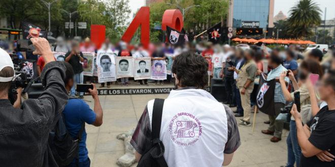 Galería: CDHCM acompañó mitin #Ayotzinapa79Meses