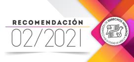 Recomendación 02/2021