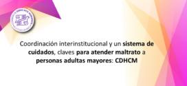 Coordinación interinstitucional y un sistema de cuidados, claves para atender maltrato a personas adultas mayores: CDHCM