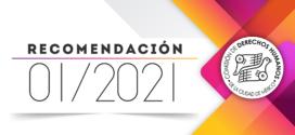 Recomendación 01/2021