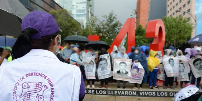Galería: CDHCM acompañó marcha #Ayotzinapa82Meses