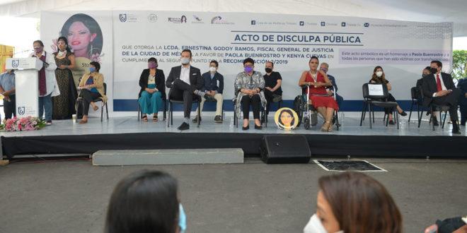 Galería: Acto de Disculpa Pública de la Fiscalía CDMX, en cumplimiento a Recomendación 02/2019 en favor de Paola Buenrostro y Kenya Cuevas